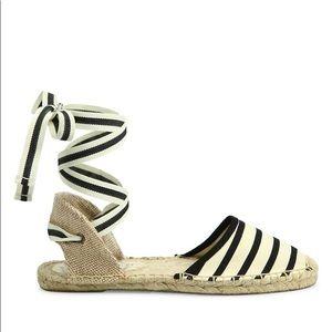 Soludos Striped Ankle Wrap Espadrilles